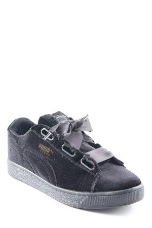Puma Schnürsneaker schwarz schlichter Stil