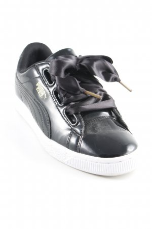 Puma Schnürsneaker schwarz sportlicher Stil
