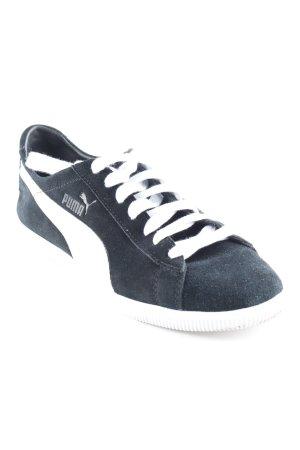 Puma Schnürsneaker schwarz-weiß sportlicher Stil