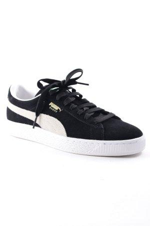 Puma Sneakers met veters zwart-wolwit atletische stijl