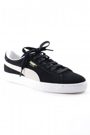 Puma Lace-Up Sneaker black-natural white athletic style