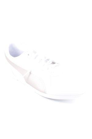 Puma Schnürsneaker weiß-goldfarben Punktemuster sportlicher Stil