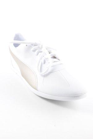 Puma Schnürsneaker weiß-goldfarben schlichter Stil