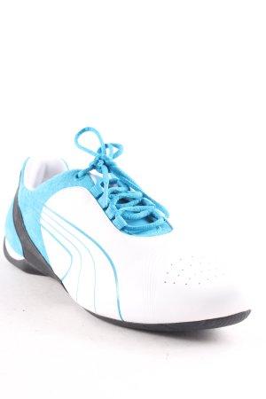 Puma Sneakers met veters wit-lichtblauw retro uitstraling