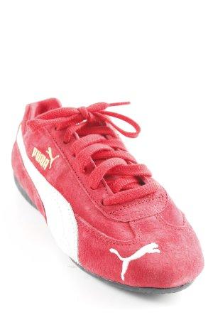 Puma Sneakers met veters wit-rood atletische stijl