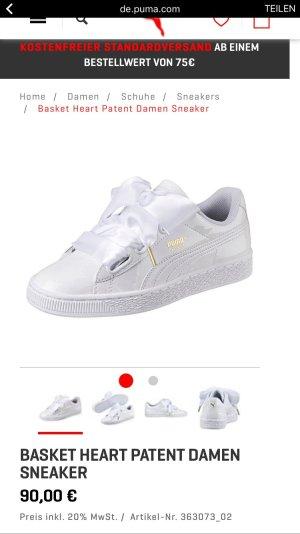Puma Schuhe weiß mit 2 Bändern