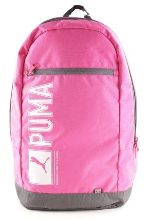 Puma Zaino per la scuola rosa-grigio stile atletico