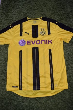 PUMA schwarz-gelbes BVB Herren Trikot, Gr. XL - NEU!