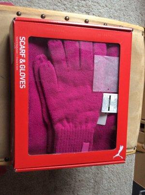 Puma Sciarpa lavorata a maglia rosso
