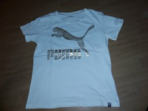 Puma T-Shirt white-sand brown cotton