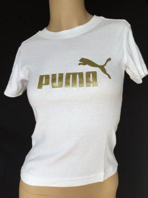 Puma Shirt in weiß mit Goldaufdruck
