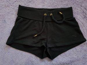 Puma Sport Shorts black-gold-colored