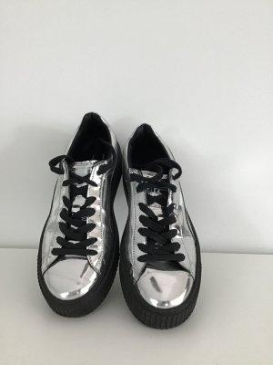 Puma Sneakers met veters lichtgrijs Leer
