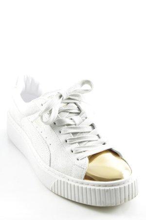 Puma Skaterschuhe goldfarben-creme sportlicher Stil