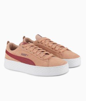 Puma Smash Platform SD leather Sneaker Damen rosa