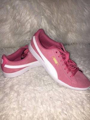 Puma Lace-Up Sneaker raspberry-red-white