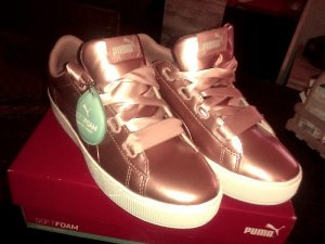 Puma Lace-Up Sneaker bronze-colored