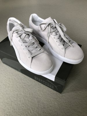 Puma Lace-Up Sneaker white-natural white leather