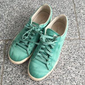 Puma Basket à lacet turquoise
