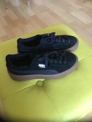 Puma Sneaker/ Creepers  Suede aus schwarzem Wildleder Gr. 36