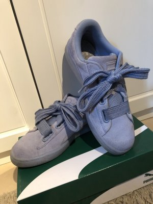 Puma Sneaker hellblau mit Schleife