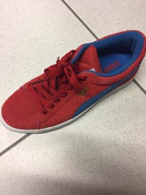 Puma Lace-Up Sneaker brick red-blue