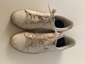 Puma Lace-Up Sneaker white-silver-colored