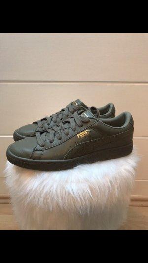 Puma Sneakers met veters olijfgroen-khaki