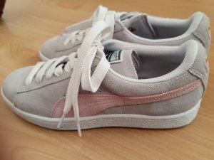 Puma Sneakers met veters zilver-roze Suede