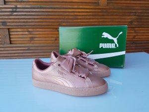 Puma Sneaker Schuhe Glitzer Rosa Gr 37 Neu