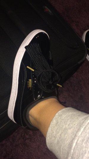 PUMA Sneaker schwarz Lack