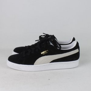 Puma Lace-Up Sneaker white-black suede