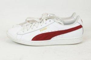 PUMA Sneaker Turnschuhe Gr. 41 weiß rot