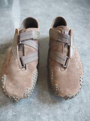 Puma Velcro Sneakers grey brown suede