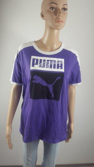 Puma Sport Lifestyle Damen Shirt lila mit Druck Größe 48/50