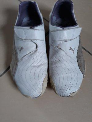 Puma Mocasines blanco-color plata