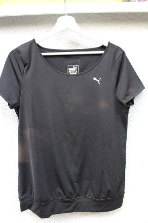 Puma Sportshirt zwart-zilver Polyester