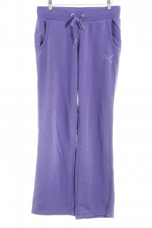 Puma Trackies lilac weave pattern casual look