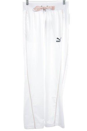 Puma Sporthose weiß-rosé Glanz-Optik