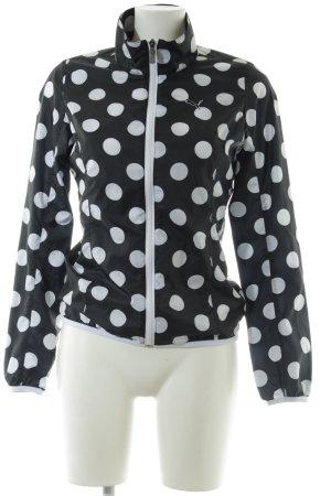 Puma Sportjack zwart-wit gestippeld patroon casual uitstraling