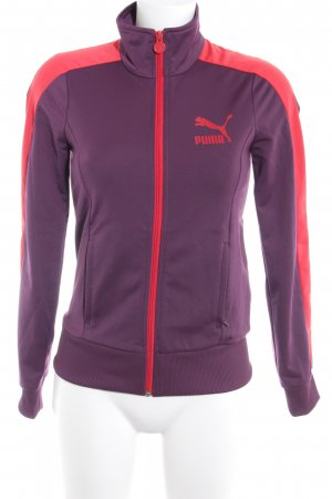 Puma Sports Jacket brown violet-red athletic style