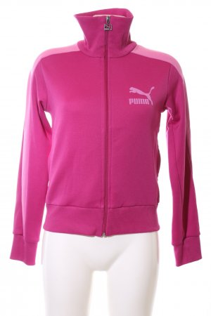 Puma Sportjacke pink Motivdruck Casual-Look