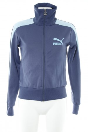 Puma Sports Jacket grey violet-azure themed print casual look