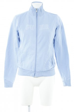 Puma Sports Jacket azure-white embroidered lettering casual look