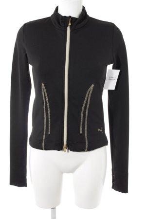Puma Sportjacke schwarz-goldfarben sportlicher Stil