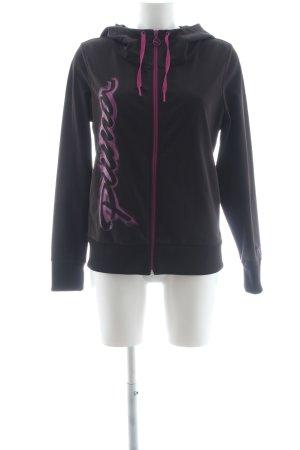 Puma Sportjacke schwarz-lila sportlicher Stil