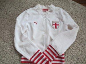 Puma Sportjacke weiß/rot, Gr. 36, neuwertig
