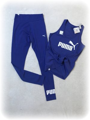 Puma Sportoutfit, Leggings und Top in Royalblau, neu mit Etikett