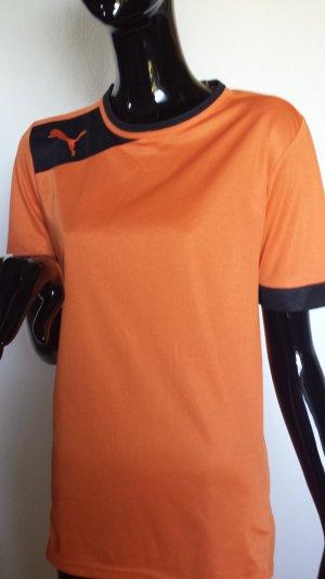 PUMA Sportshirt, orange mit schwarz Gr. S
