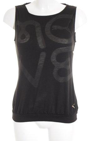 Puma Sportshirt schwarz Motivdruck schlichter Stil